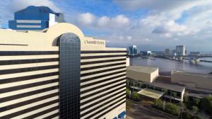 Omni Hotel - exterior overlooking river